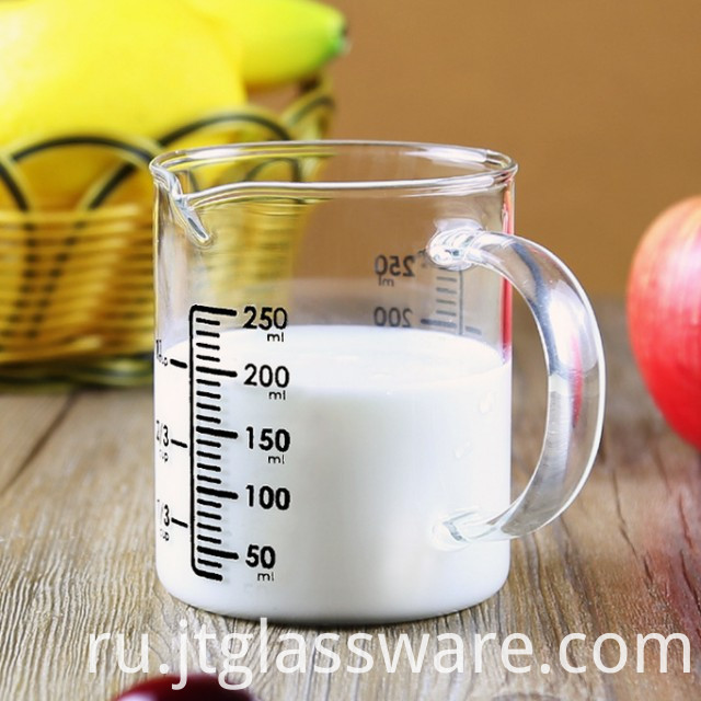 Reusable Measuring Glass Milk Mugs