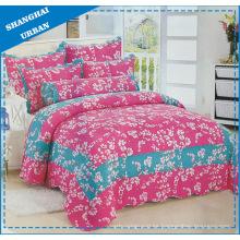 Edredón de ropa de cama de algodón con estampado de flores