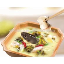 Condiments de poisson avec assaisonnement Haidilao dans le bouillon