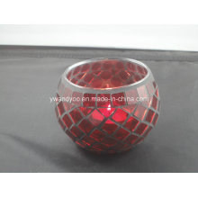 Red Mosaic Tealight Candle Holder as Gift Luxury