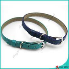 Royal Blue Shinny Cat couro colarinho atacado (PC16041405)