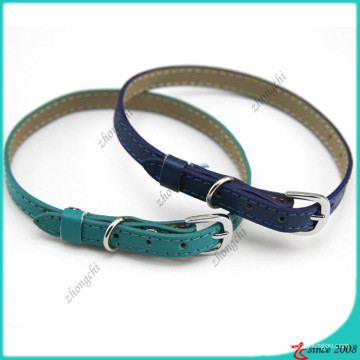Royal Blue Shinny cuir collier de chat en gros (PC16041405)