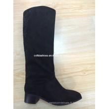 OEM Hot-Sale Low Heels Lady Fashion PU Bottes