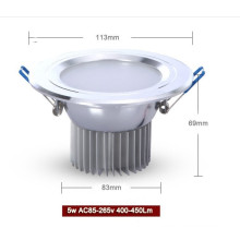 5W led downlight aluminum and PCB material