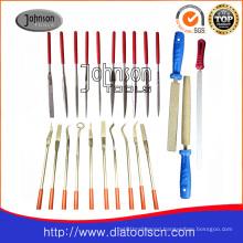 Electroplated diamond file: diamond tool