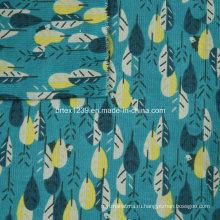 21Wales Печатная вельветовая ткань для одежды без спандекса