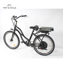 S2 billige Chopper Aluminium elektrische Beach Cruiser Fahrräder / Beach Cruiser Ebike Fahrrad