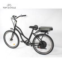 As bicicletas elétricas de alumínio do cruzador da praia do interruptor inversor barato de S2 / cruzam a bicicleta do ebike do cruzador