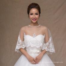 Aoliweiya nupcial envuelve la boda chaqueta de novia chal con encaje