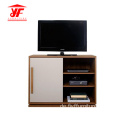 Zweifarbige Small Corner Tv Storage Unit