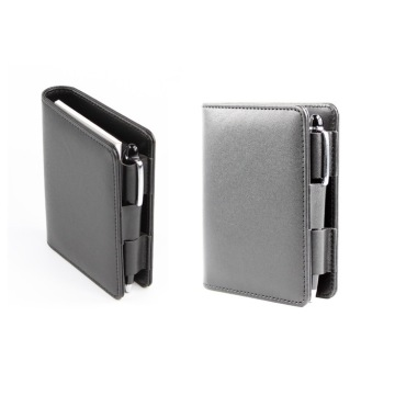 Multi Funtion Business Leather Notepad, Memo Notepad with Pen
