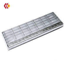 Industrial galvanized steel stair treads steel grating for outdoor projects