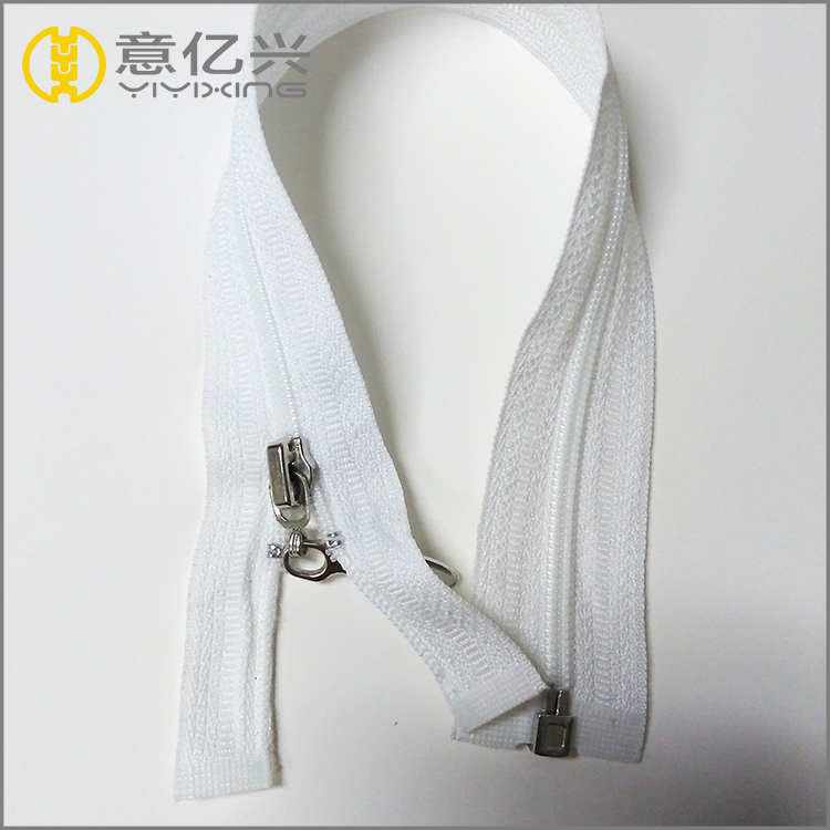 white no.3 nylon zipper