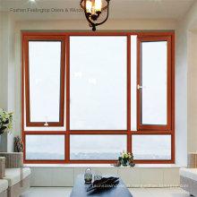 Fenêtre à battants en aluminium à double vitrage éconergétique de norme australienne (FT-W80)