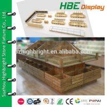 Supermärkte Holz Regal / Supermarkt Holz Regal / Supermarkt Gemüse und Obst Display Regal