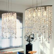 Luminaires de style américain art déco lustre en cristal de salon lumineux