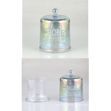 Colorful Glass Candle Holder with a Lid
