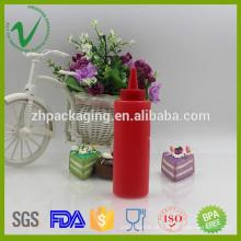 LDPE de alta qualidade cilindro macio vermelho garrafa de gotículas de plástico vazio 5oz para molho