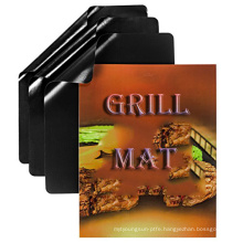 Special outdoor barbecue 0.3mm thickness non stick ptfe bbq grill mat pack of 5