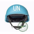 Casco de protección azul bullistic de la ONU Casco a prueba de balas