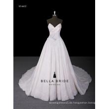 2017 die neueste Art appliqued Ballkleid Hochzeitskleid Kleid mit Schatz Ausschnitt