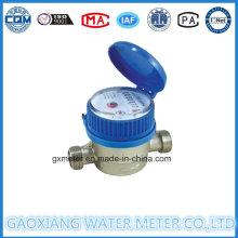 Medidor de água de jato único frio ou quente