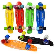 Venda a quente de alta qualidade 22 polegadas skateboard skateboard plástico para venda