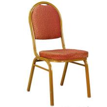 Высокое качество красной ткани Глод кадр отель Banquet стул