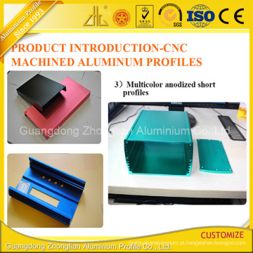 Customzied anodizado / produtos de alumínio expulsos revestidos pó