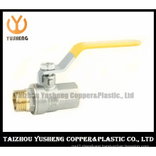 Brass Ball Valve Nickel Plated with Iron Handle (YS1014)