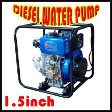 5.5HP bomba de agua diesel / bomba de agua de 1.5 pulgadas