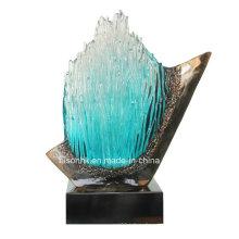 Стеклянная статуя Resin Craft для украшения гостиницы