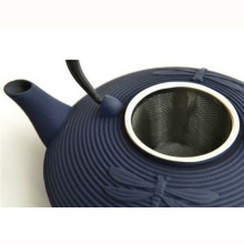 Japanese Enamel Cast Iron Teapot with SGS FDA/Blue Dragonfly Style