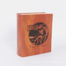 Custom book shape magnetic closure gift box use screen printing