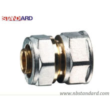 Pex-Al-Pex Fitting/Straight with Female Thread Brass Fitting with Nickel Plated