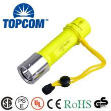 Fonte de alimentação da bateria recarregável e ABS Material do corpo da lâmpada Cree XML T6 Diving Lanterna