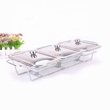 Hotel Restaurant Buffet 3 Dividers Food Warmer  Fancy Chafing Dish Set for  Soup