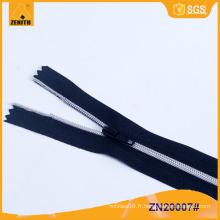 No.3 Dents en argent plaqué Nylon Zipper ZN20006