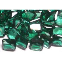 Ювелирные изделия зеленый кварц частей Syntehtic драгоценных камней