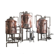 Commercial red copper beer brewing equipment for pub