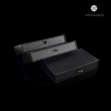High end black drawer sliding packaging box