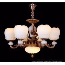 Luz moderna de la lámpara de cristal de la vela de la aleación del cinc para la decoración casera del proyecto del hotel