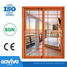 Puertas de cristal de elegante aluminio puertas correderas cristal puertas corredizas/interior