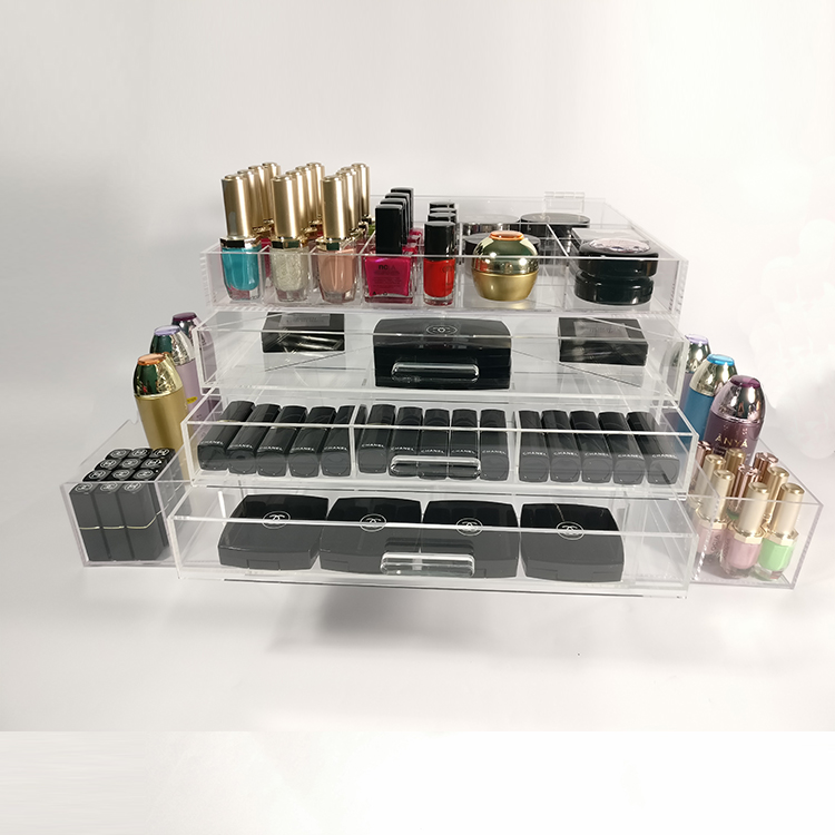 Acrylic Cosmetic Makeup Organizer With Drawers