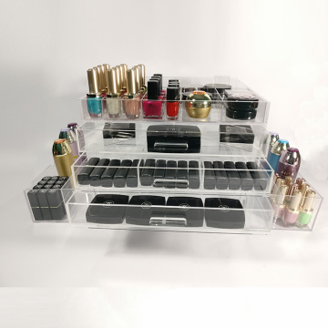 Acryl cosmetische make-up organizer met lades