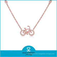 Collar de joyería de plata con certificado SGS 2015 (N-0324)