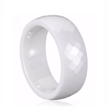 Traditional Chinese Discount Men's White Ceramic Wedding Rings