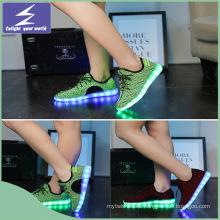 Alta calidad olímpicos zapatos luz LED con cambio de colores