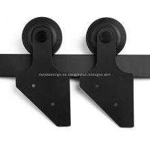 Interior mini deslizamiento puerta de granero kit de hardware de rodillos