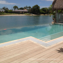 Waterproof WPC solid wood flooring for indoor and outdoor use
